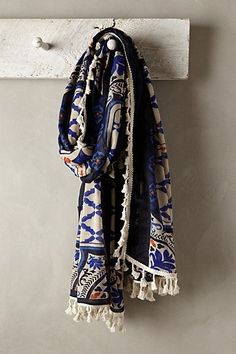 This Boho scarf can make any plain top instantly stand out. The fringed details give it a chic boho romantic look. The accessory can also be used to cover up low cut tops for work.