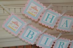 Carousel Horse Banner  Carousel Birthday by SweetEPaperBoutique
