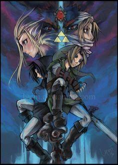The Legend Of Zelda - Link | Dark Link - Zelda | Sheik
