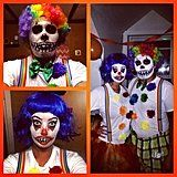 If you're coupled up for Halloween why not try out a horrifying costume that will spook adults and kids alike? Not only are creepy costumes original, but Clown Costume Diy, Pennywise Halloween Costume, Scary Couples Halloween Costumes, Scary Halloween Costumes, Halloween Home Decor, Halloween House, Halloween 2019, Diy Costumes, Halloween Ideas