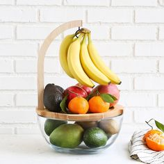 Organize your fruit by ripeness with Myles Geyman's smart glass and maple design.