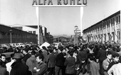 Milano Sciopero al Portello Alfa Romeo - 1966  #TuscanyAgriturismoGiratola