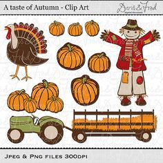 Fall Clip art images, Autumn clipart, royalty free clip art -- Instant Download on Etsy, £3.20