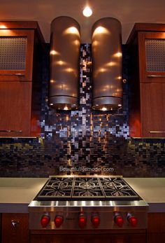 Kitchen Design Study: Contemporary Kitchen w/Zebra Cabinetry | Range Hood Blog