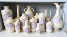 Super collection of Rosenthal Cameo vases from Ebay Biscuit, Vases, Jar, Dining, Collection, Spring, Food, Biscuits, Jars