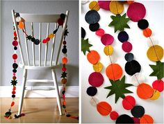Felt garland. Perfect for the holidays