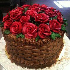 Simple yet elegant cake - Eleganckie torty - . Simple yet elegant cake – Eleganckie torty – Einfacher und doch eleganter Kuchen – Eleganckie torty – 0 Source by Basket Weave Cake, Flower Basket Cake, Cake Basket, Flower Cakes, Basket Weaving, Pretty Cakes, Cute Cakes, Beautiful Cakes, Fancy Cakes