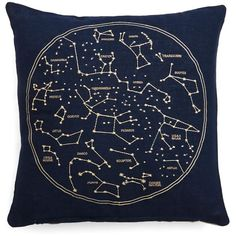Celestial Chateau Pillow ❤ liked on Polyvore featuring home, home decor, throw pillows, pillows, navy blue accent pillows, dark blue throw pillows, navy throw pillows, navy accent pillows and navy blue home decor