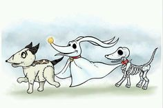 Tim Burton Dogs❤️ 》 (Frankenweenie) - (The Nightmare Before Christmas) & (Corpse Bride). Tim Burton Stil, Tim Burton Kunst, Film Tim Burton, Tim Burton Art, Jack Skellington, Tim Burton Personajes, Spooky Buddies, Desenhos Tim Burton, Illustrations