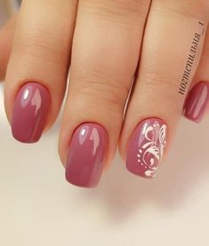 Nail Shapes - My Cool Nail Designs Elegant Nail Designs, Fall Nail Art Designs, Diy Nail Designs, Pink Wedding Nails, Wedding Nails Design, Red Wedding, Cute Nails, Pretty Nails, Nail Dipping Powder Colors