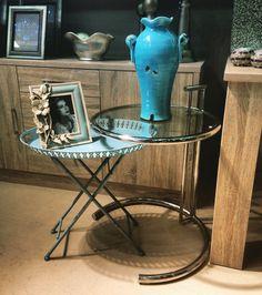 Βοηθητικά τραπέζια σαλονιού - δίσκος με διακοσμητικά κεραμικά σε γαλάζια χρώματα απο την Bonsai στην Κηφισια.