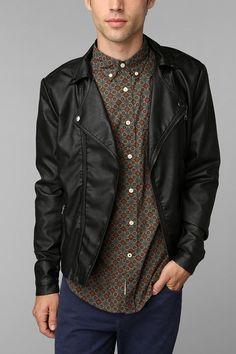 Tyler Durden again?  KC By Kill City Vegan Leather Moto Jacket