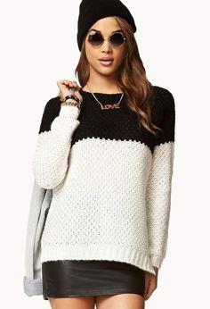 Womens Hand Knit Crew Neck Sweater 40G