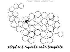 How to Make an Elephant Cupcake Cake - Crafty Morning