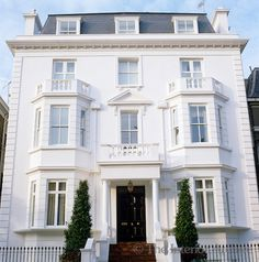 Decoration home · a classic double-fronted stucco facade representative of many victorian houses in central london mansions Victorian Townhouse, London Townhouse, London House, Victorian Homes, London City, Victorian House London, West London, Victorian Era, D House
