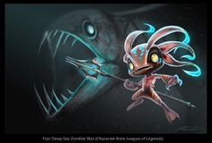 Deep Sea Zombie Fizz - GameShrimp Art