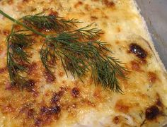 Orange Roughy with Dill Sauce from Food.com:   I got this recipe from a community cookbook. It was so easy to prepare and very delicious. It is also healthy and low fat. A great weeknight dish.