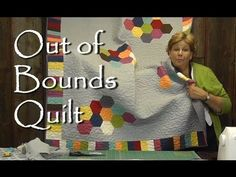 Out of Bounds Quilt - Modern Quilting Project - YouTube  .This is brilliant. A very EASY way to to a modern hexagon quilt.