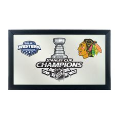 NHL Chicago Blackhawks 2015 Stanley Cup Wall Mirror