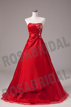 Discount Cheap Red Quinceanera Dress Prom Dress Ball Gown Sweet 16 dress Custom Size Color 2 4 6 8 10 12 14 16 16w-28w