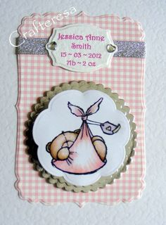 PERSONALISED New BABY Card HANDMADE Cute Congratulations Birth. Christening or Baptism Gingham. £3.99, via Etsy. Paper Moon, New Baby Cards, Baby Shower Cards, Digi Stamps, Christening, Handmade Cards, Handmade Gifts, Cardmaking, New Baby Products