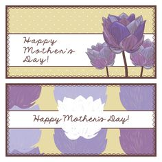 Mother's Day Banners Vector Graphic - DryIcons