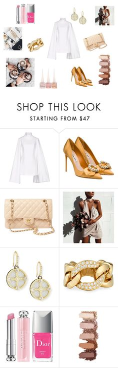 """Ladies..."" by maria-chamourlidou ❤ liked on Polyvore featuring Jacquemus, Miu Miu, Chanel, Sabo Skirt, Armenta, Bessa, Christian Dior and Christian Louboutin"