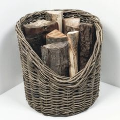 Natural Wicker Log Basket - 42cm from The Farthing