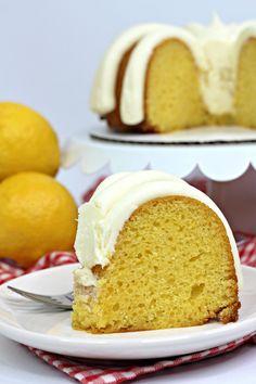 Lemon Bundt Cake, Lemon Cake Mixes, Vanilla Cake, Cake Receipe, Cake Mix Recipes, Soften Cream Cheese, 8 Oz Cream Cheese, Cream Cheese Frosting, Fun Desserts
