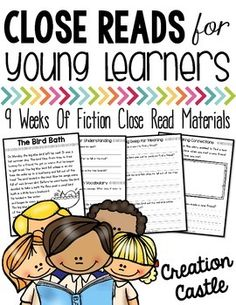 Reading is important part of the day for any student. Close reading takes your reading block to a whole new level. Using short passages and text-based questions your students will dig deeper for meaning in text and think more critically.  This set of fictional close reading passages are perfect for first graders (mid to end year) or the beginning of second grade.