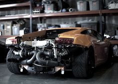 Twin-turbo Lamborghini Gallardo? I'll take one. The modifications take up so much room that they can't have a rear bumper!