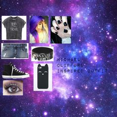 Michael Clifford inspired outfit by gleegurl1235 on Polyvore featuring Pierre Balmain and Converse
