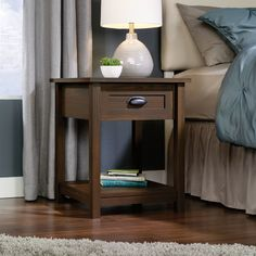Features:  -Drawer with metal runners and safety stops features patented T-lock system.  -Finished on all sides for versatile placement.  -Open shelf provides additional storage.  Frame Material: -Man
