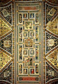 Pinturicchio (Bernardino di Betto Betti detto) - Volta della Libreria Piccolomini - affresco - 1502-1507  - Siena, Duomo