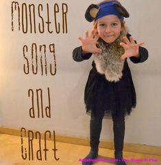 MonsterStomp - Movement song & Craft for #Halloween   AngeliqueFelix.com #kids