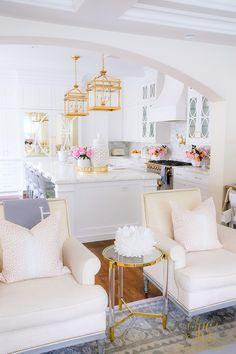 Golden Harvest Fall Home Tour - Randi Garrett Design Dream Home Design, House Design, Kitchen Reviews, Bright, Home And Living, Living Rooms, Planer, Sweet Home, Room Decor