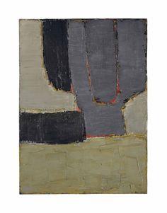 """"""" Nicolas de Staël (1914-1955) Composition (1950) oil on canvas 98 x 73 cm """""""