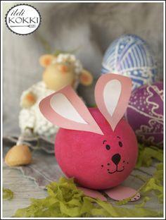 ildi KOKKI : Húsvéti ötletek: cuki nyuszi tojásból Easter, Diy, Spring, Bricolage, Easter Activities, Do It Yourself, Homemade, Diys, Crafting