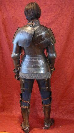 """teadrunktailor: """" babesinarmor: """" Jeff Wasson's self-proclaimed """"wife"""" in plate armor made from 1050 hardened steel. From the website: """" Notice that her breastplate covers her ribcage and stops at the..."""
