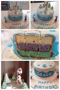 Frozen Birthday Cake #frozen #disney #olaf #anna #elsa #kids #birthday #cake