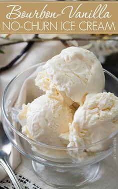 Bourbon Vanilla No Churn Ice Cream.