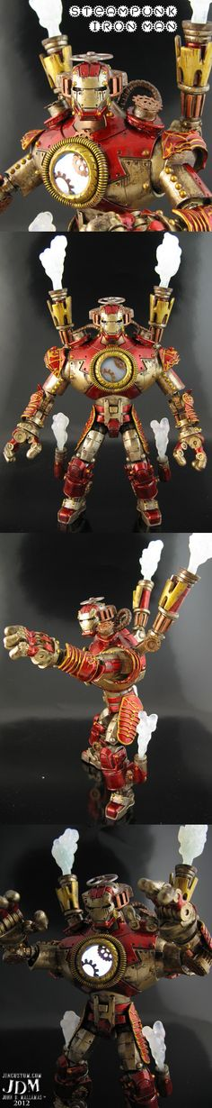 Custom Steampunk Iron Man Marvel Legends DC Universe 2012 Comic Action Figure | eBay