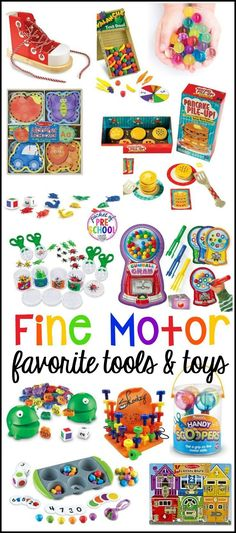 Fine motor tools, toys, and activities for little learners (preschool, pre-k, and kindergarten)! Make fine motor work FUN!