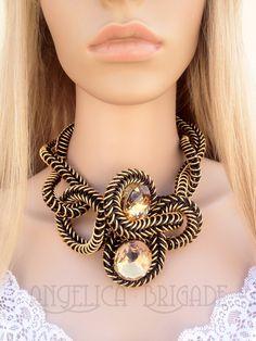 Page by Angelica Brigade Joyz - Handmade chainmaille jewelry chain maille jewellery chainmail chain statement necklace huge unusual unique sculptural