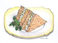 Egg and Watercress Triangles