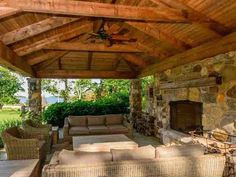 There's even an outdoor fireplace in the pavilion for entertaining guests.  Nice, but a little rustic for TGP.