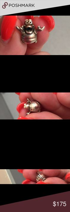 Rare Disney Sebastian the crab charm Extremely rare Disney Sebastian the crab charm by Chamilla fits Pandora, retired 925 sliver Jewelry Bracelets