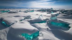 ice on ancient lake