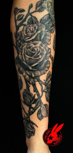 24965c846ebb1 Rose Tattoo by Jackie Rabbit by jackierabbit12 on deviantART Tattoos 2014, Rabbit  Tattoos, Custom