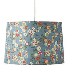 Non electric Floral pendant shade in Duck Egg. No wiring required. Maximum 1x 60w bulb or 1x 12w energy saving bulb, bulb  not  included.  For indoor use only.